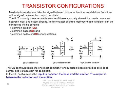 transistor configuration bipolar junction transistor bjt 08 h ppt