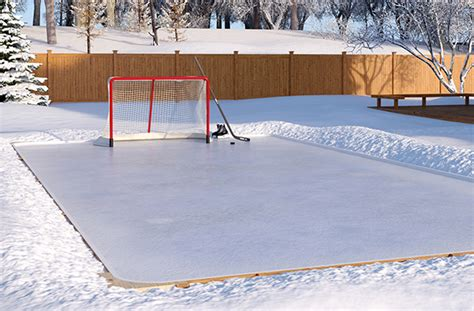Backyard Hockey Rink Liner by Patio Ideas Canada Backyard Rink Landscaping