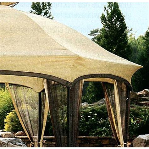 500 215 375 deck tent garden winds dawson hexagon gazebo replacement canopy