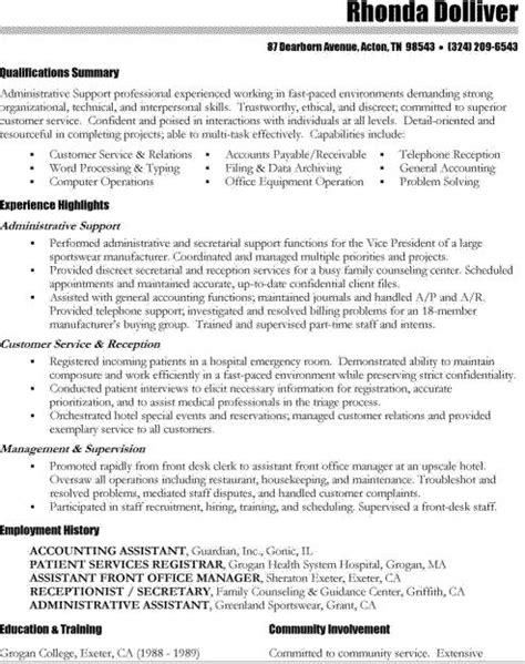 resume sles for assistant certified assistant resume sles 28 images certified