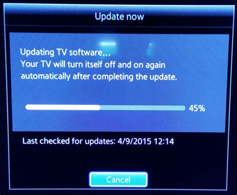 how to update samsung smart tv software to version