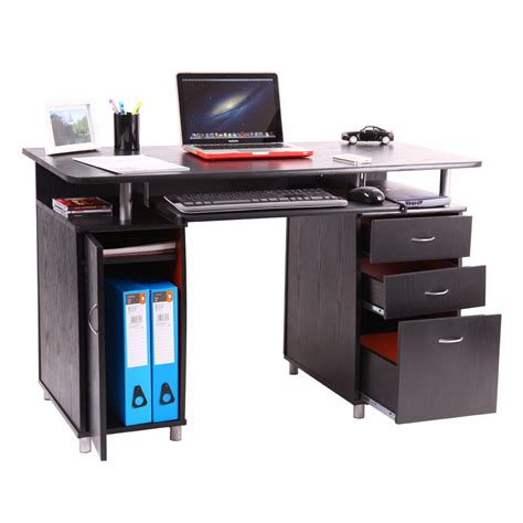 Laptop Desk Station San Pedro Computer Desk Work Station Pc Table Bench Home Office Study Furniture Ebay