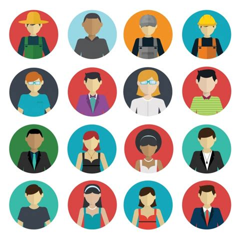 People icons collection Vector | Free Download