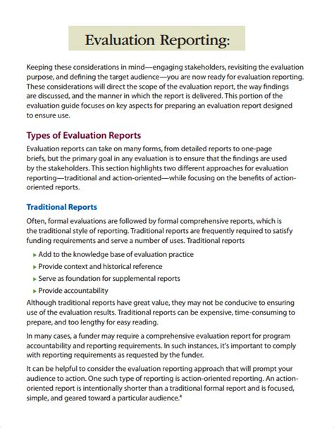 evaluation report template 12 sle evaluation reports sle templates