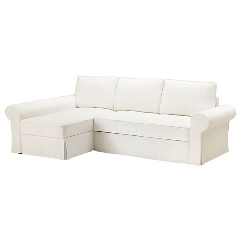 ikea white sofa bed backabro sofa bed with chaise longue hylte white ikea