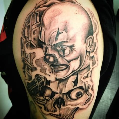 clown sleeve tattoo designs 30 wonderful gangsta tattoos of clown golfian