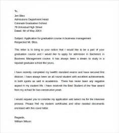 Graduate School Admission Letter Exle How To Write A Cover Letter For Graduate School Application