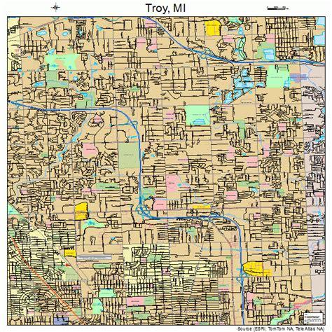 Troy Michigan troy michigan map 2680700