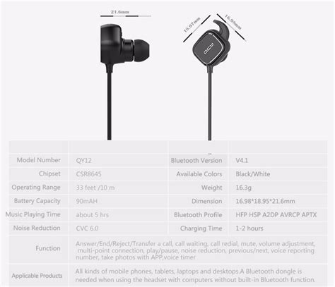 Qcy Qy12 Earphone Bluetooth Olahraga Magnet Detach Dengan Mic qcy qy12 earphone bluetooth olahraga magnet detach dengan mic black jakartanotebook