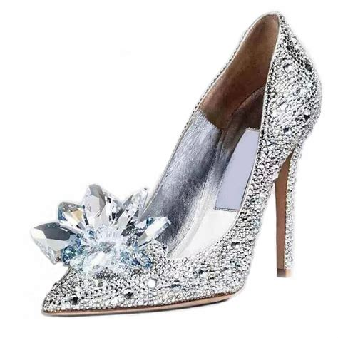 Gorgeous Sparkly Cinderella Bridal Shoes Stilettos Pumps