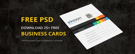 business card design templates free psd 25 best free psd business card templates 2018 skyresoft