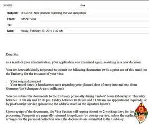 Thank You Letter After German Rejected German Visa My Remonstrance For A Schengen Visa