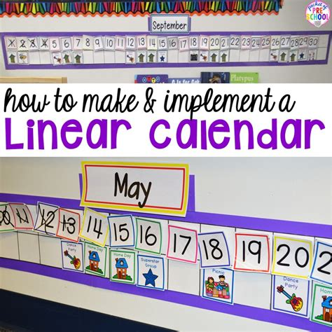 calendar ideas to make how to make and implement a linear calendar pocket of