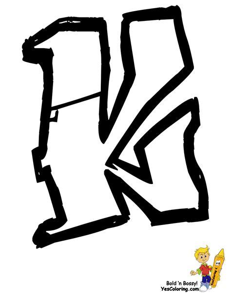 en k k free coloring pages of letra e en graffiti