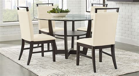 cappuccino dining room furniture collection ciara espresso 5 pc dining set dining room sets dark wood