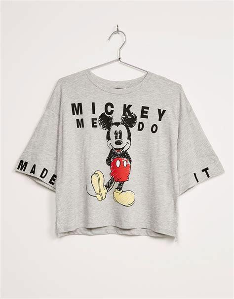 Bershka Sweatshirt Mickey Print t shirt bsk mickey oversize t shirts bershka portugal