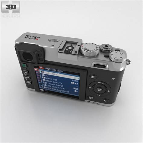 Kamera Fujifilm X100s Silver fujifilm finepix x100s silver 3d model hum3d