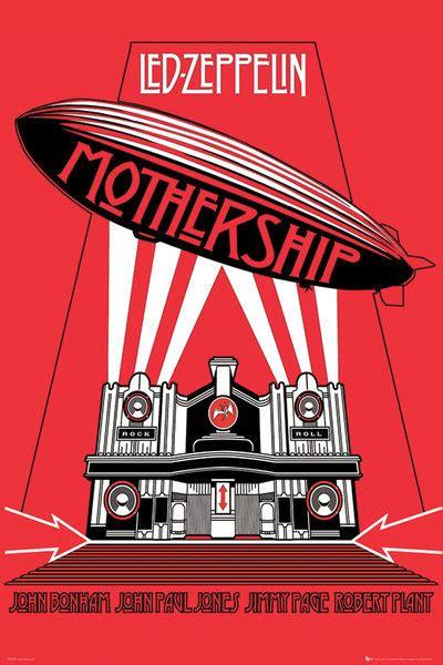 Plakat Led by Led Zeppelin Mothership Plak 225 T Obraz Na Zeď Posters Cz
