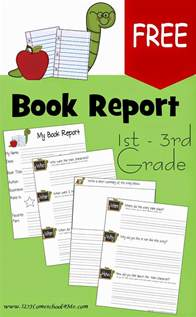 Book Report 3rd Grade Printable by Free Book Report Template