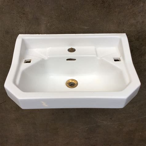 bathroom ceramic sink ceramic bathroom sink with cut corners ca 1950s rotor