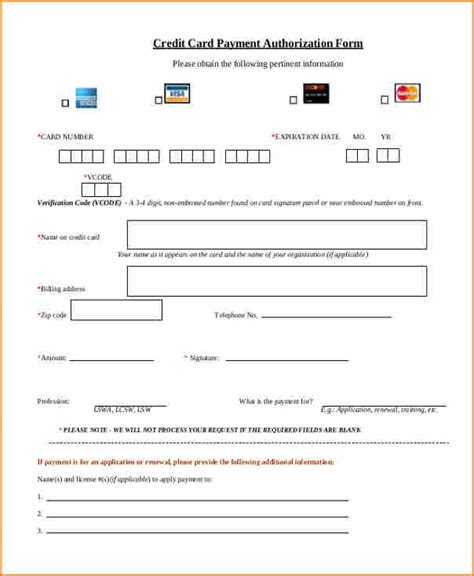 Recurring Credit Card Authorization Form Template Free by 9 Payment Authorization Form Template Secure Paystub