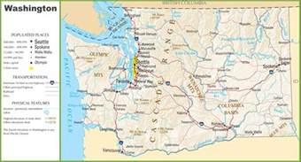 Washington Road Map by Washington Highway Map