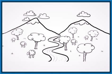 imagenes de paisajes sencillos para dibujar imagenes de paisajes faciles de dibujar archivos dibujos