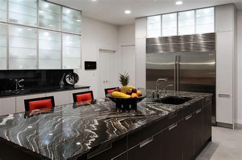 Appealing Modern Kitchen With White Kitchen Island Also