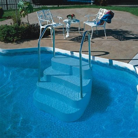 Handrails For Inground Pools blue wave lumi o oasis in ground pool step handrail aluminum inground pool step
