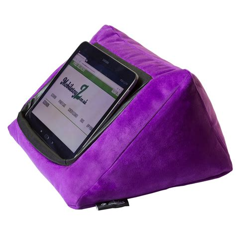 pillow for ipad in bed ipad cushion pillow stand holder icushion velvet purple