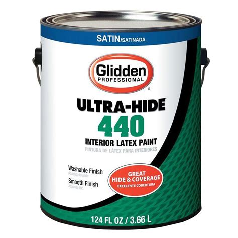 home depot pro x paint glidden professional 1 gal white tint base satin interior