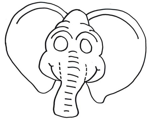 elephant mask coloring pages coloring mask printable elephant coloring coloring pages