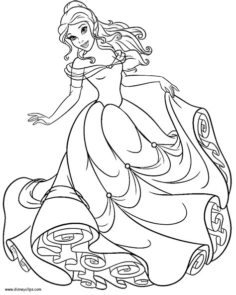 Princess Belle Coloring Pages To Download And Print For Free Bell Coloring Pages