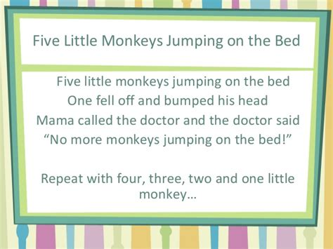 monkeys jumping on the bed lyrics sas07 13 15