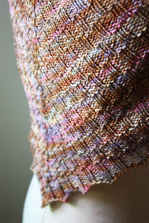 checkered knitting pattern cheques checkered rib shawlette knitting pattern
