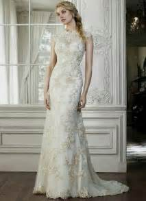 white gold wedding dresses white and gold wedding dresses with lace naf dresses