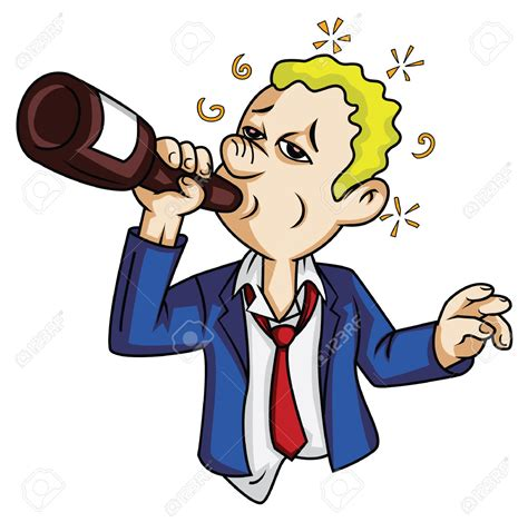 cartoon drinking alcohol alcohol clipart drunkard pencil and in color alcohol