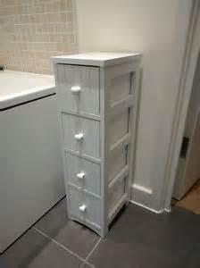 Tongue And Groove Bathroom Storage Unit Slim Tongue Groove Drawers Bathroom Cabinet Storage Unit Small Narrow Slimline Ebay