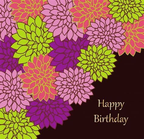 floral birthday card template floral birthday card template free stock photo