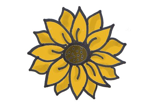 simple sunflower tattoo simple sunflower drawing search college appt