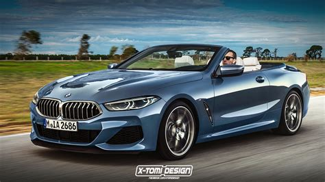 convertible bmw 8 series rendered previews actual car