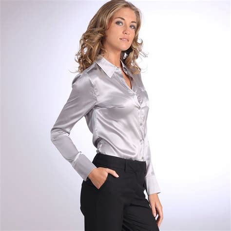 More Satin Looks by Satin Blouse Satin And Silk Blouses Satin