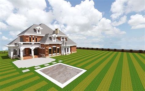how do you build a house southern country mansion minecraft house design
