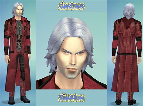 Mod The Sims Dante Devil May Cry 4 | dante from devil may cry by sim4fun at sims fans 187 sims 4