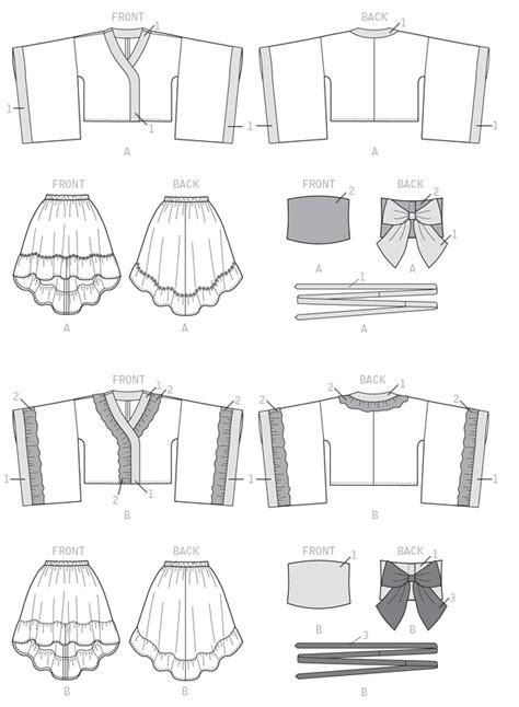 kimono jacket pattern mccalls line art mccalls s m7270 kimono top skirt obi and