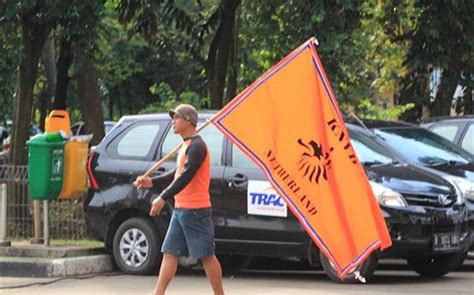 suasana jelang pertandingan indonesia melawan belanda
