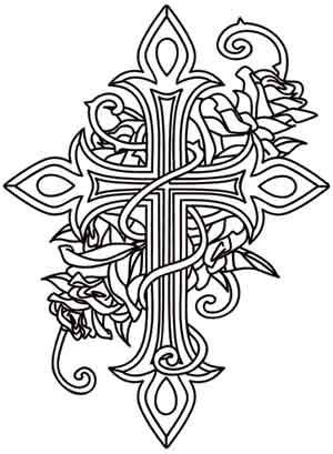 coloring pages for adults crosses crosses threads and design on