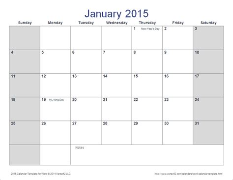 calendar template doc word calendar template for 2015 and beyond