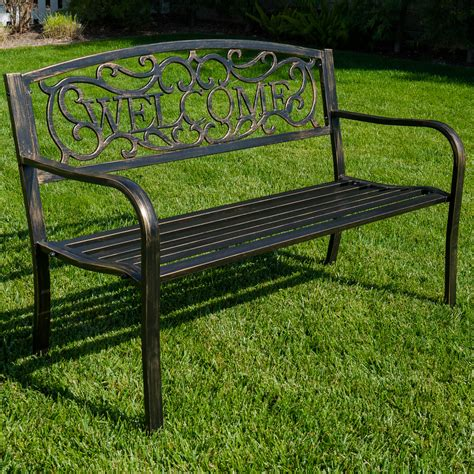 love seat garden bench new 50 quot inch outdoor garden bench patio furniture welcome