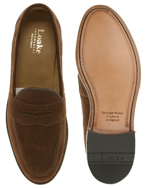 loake brown suede loafers loake eton suede loafers in brown for lyst